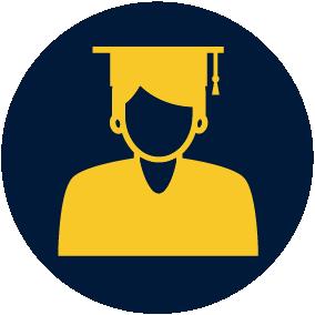 graduate man icon