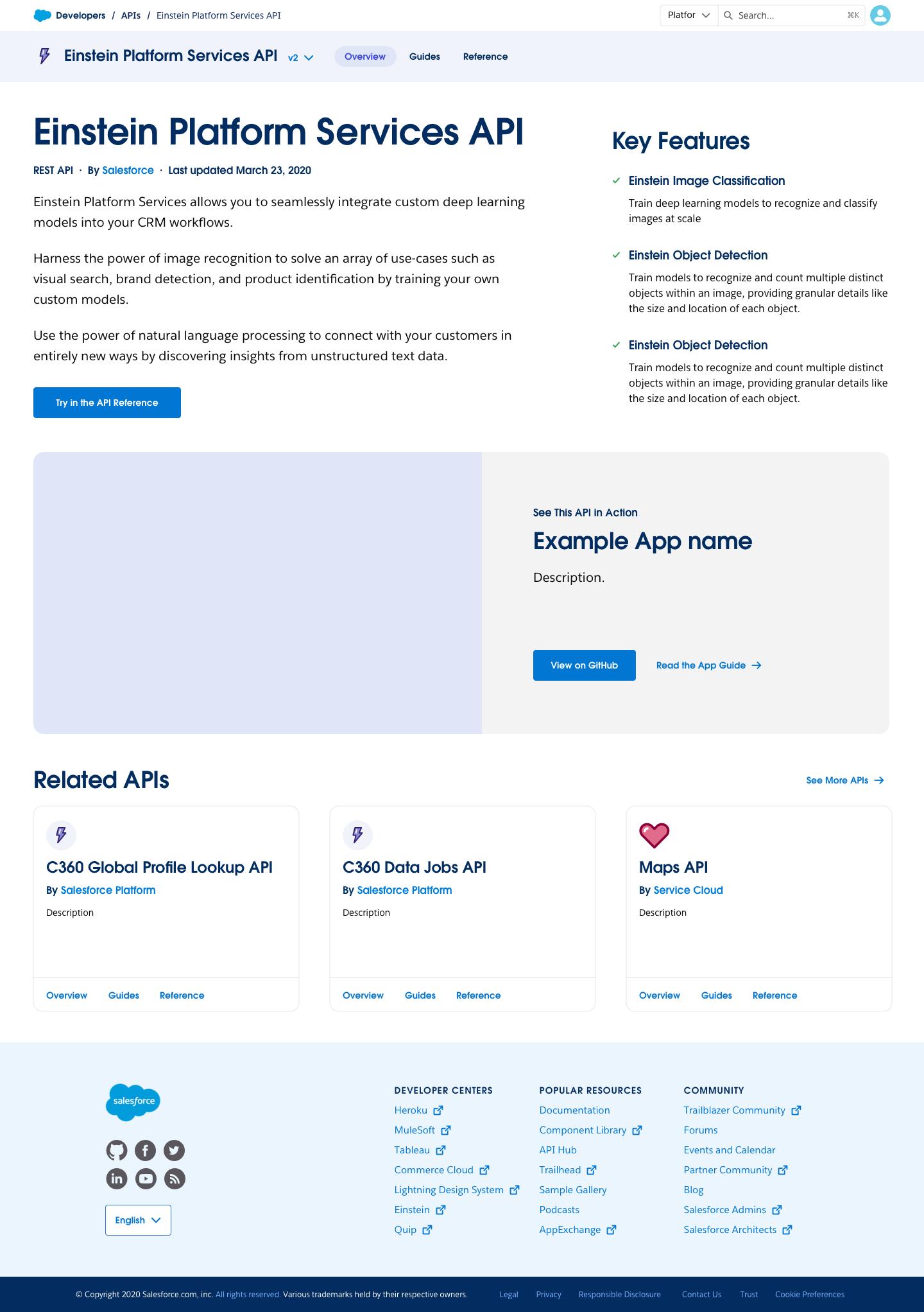 API Overview page high-fidelity mockup
