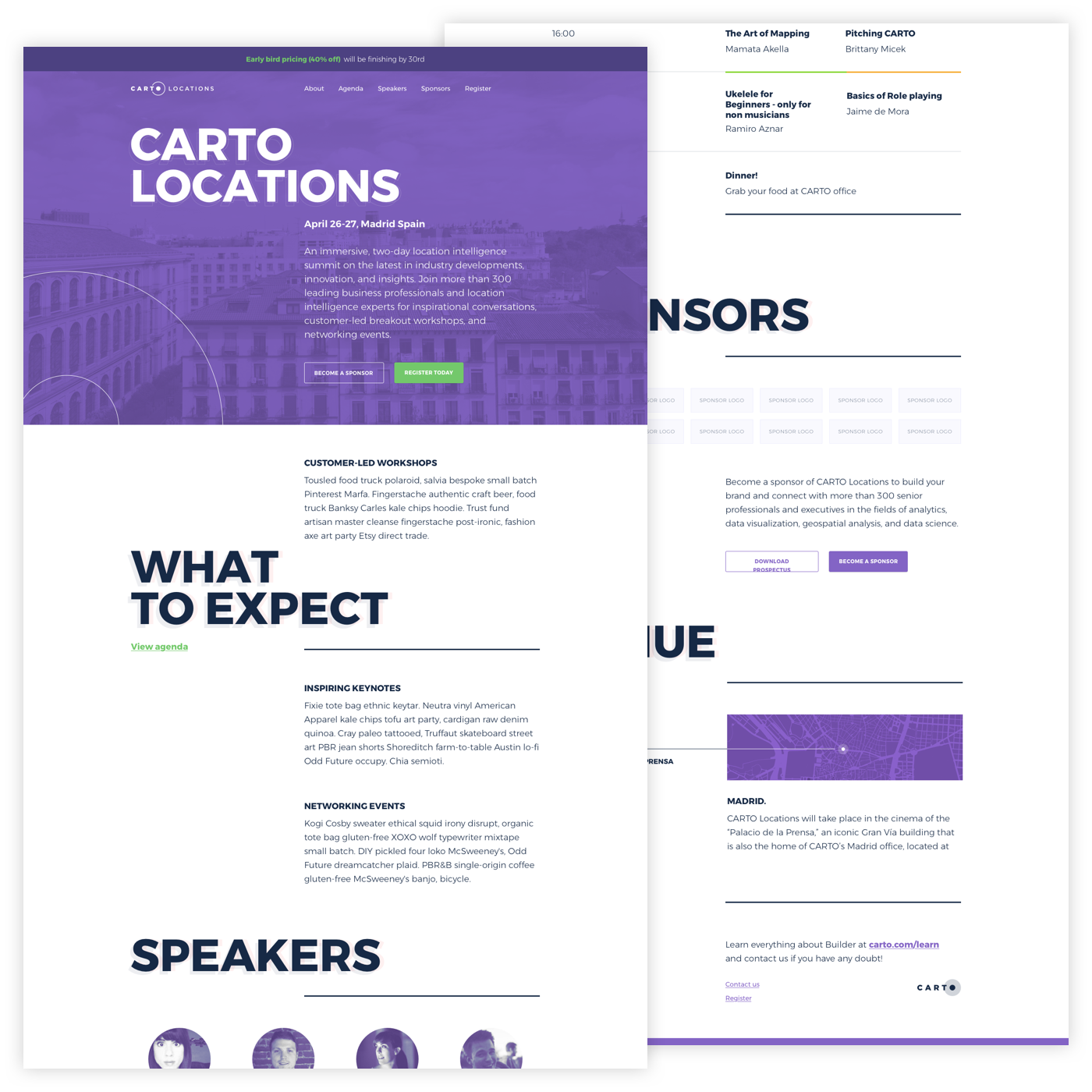 Carto Locations website