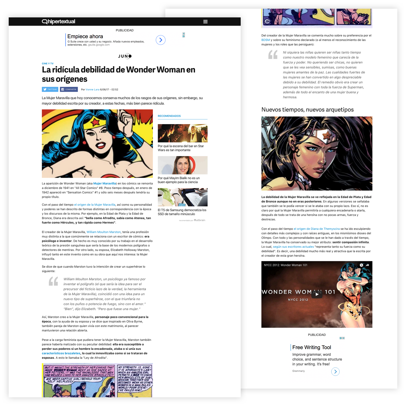 Hipertextual's article page