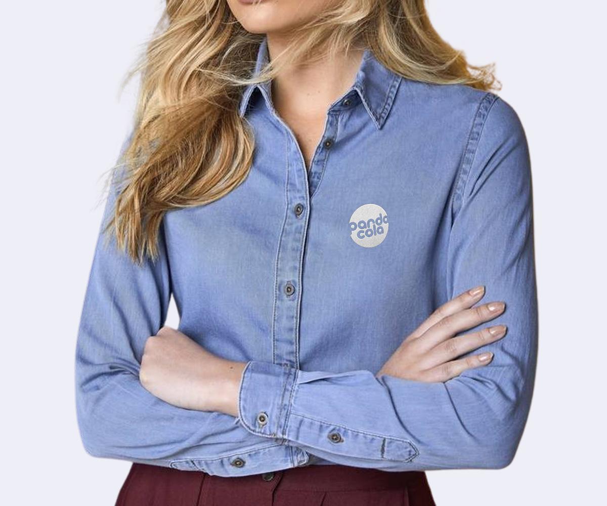 Chemise en jean pour femme personnalisée | Pandacola