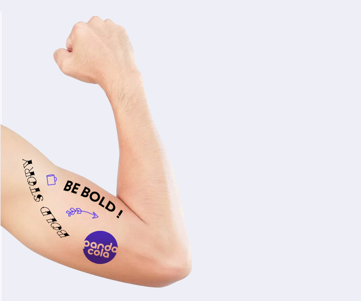 Tatouage éphémère personnalisé  | Pandacola