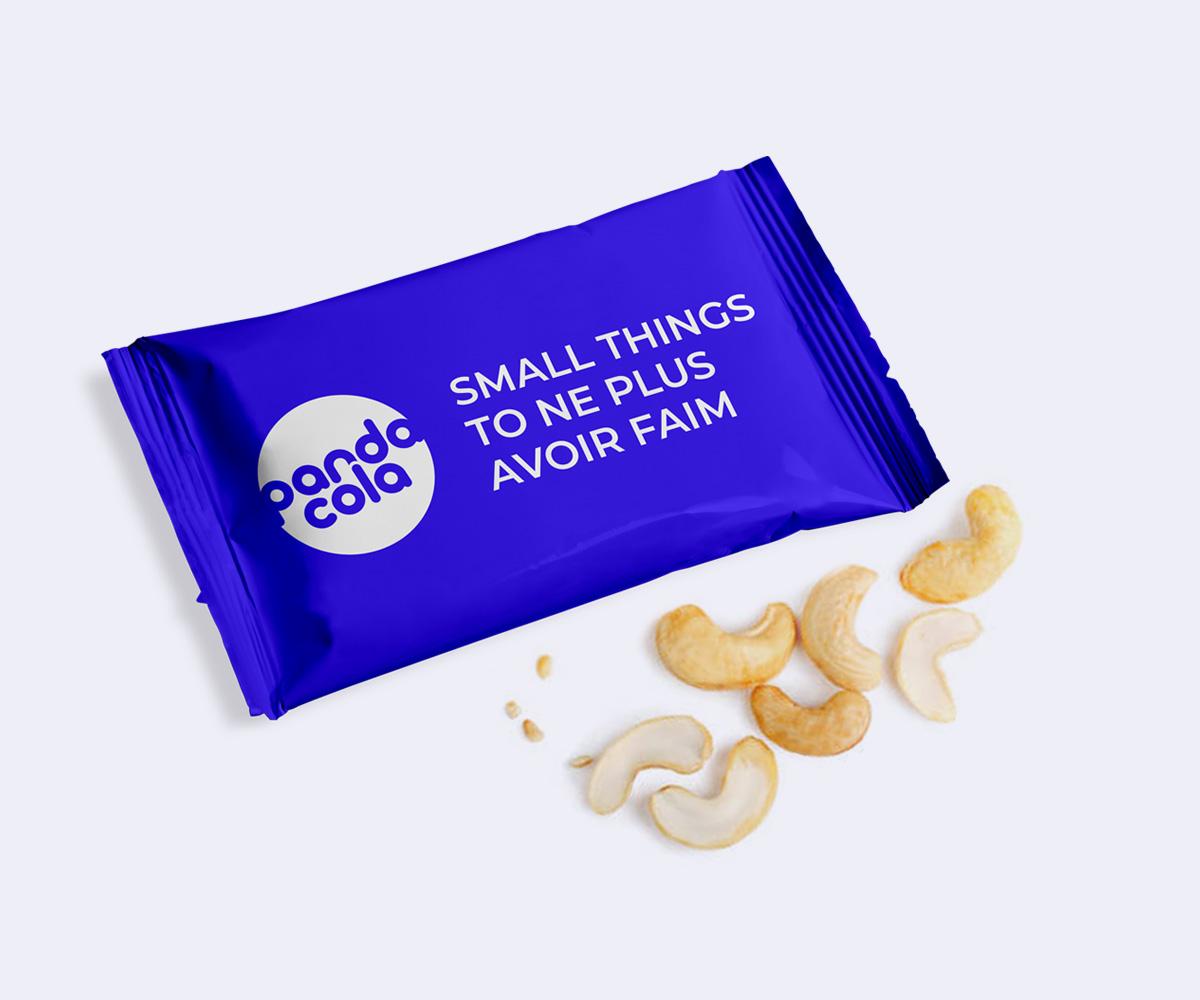 Snack noix de Cajou emballage personnalisé | Pandacola