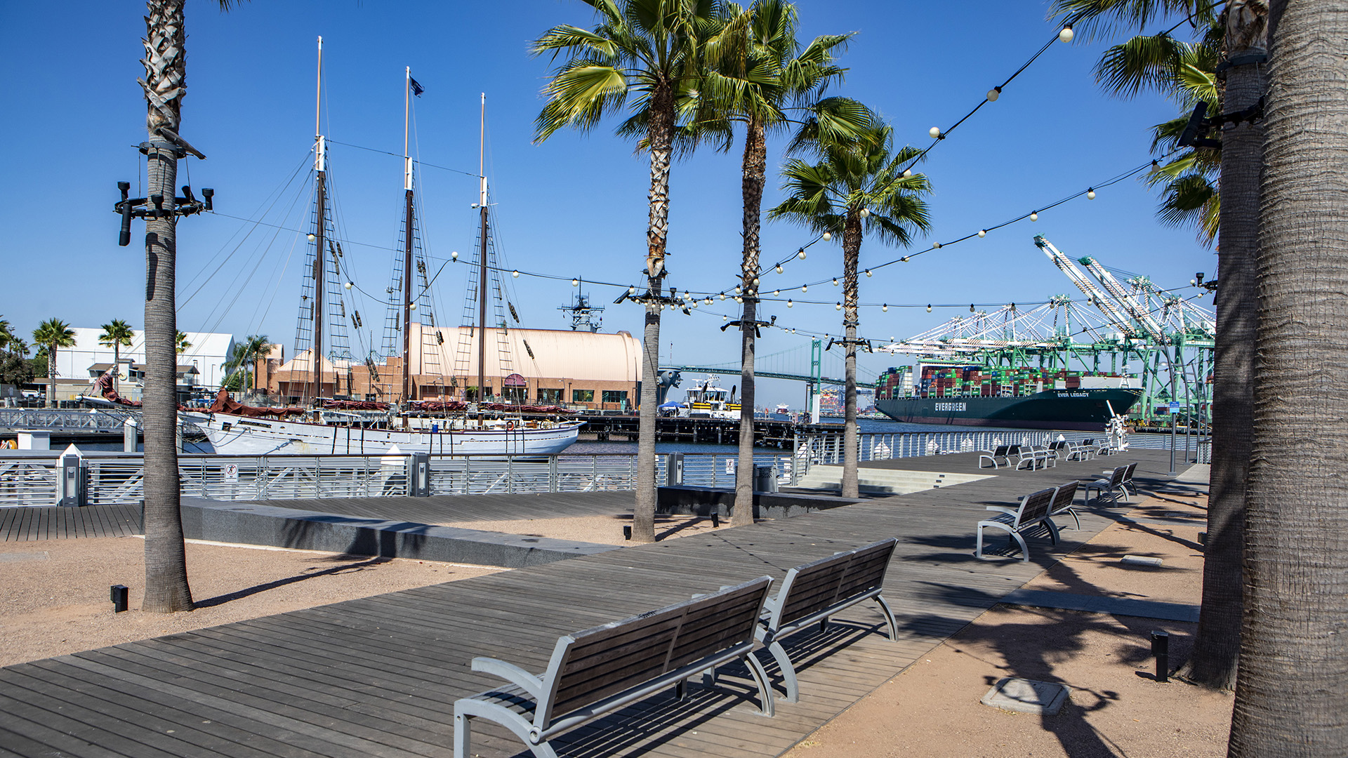 A view from the public harbor down at the port of San Pedro. Photo courtesy of the Port of Los Angeles.
