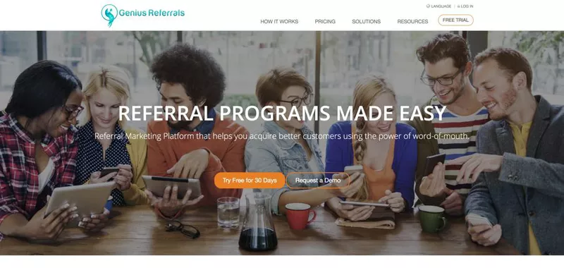 Genius Referrals is a referral program software