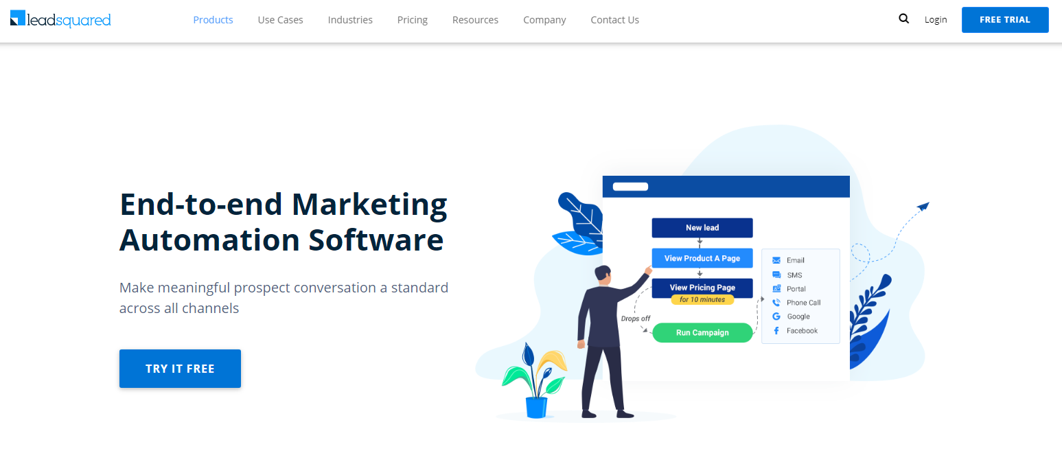 Leadsquared - Top 10 Marketing Automation Tools