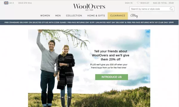 Wool Overs - Example of Retail Referral Programs