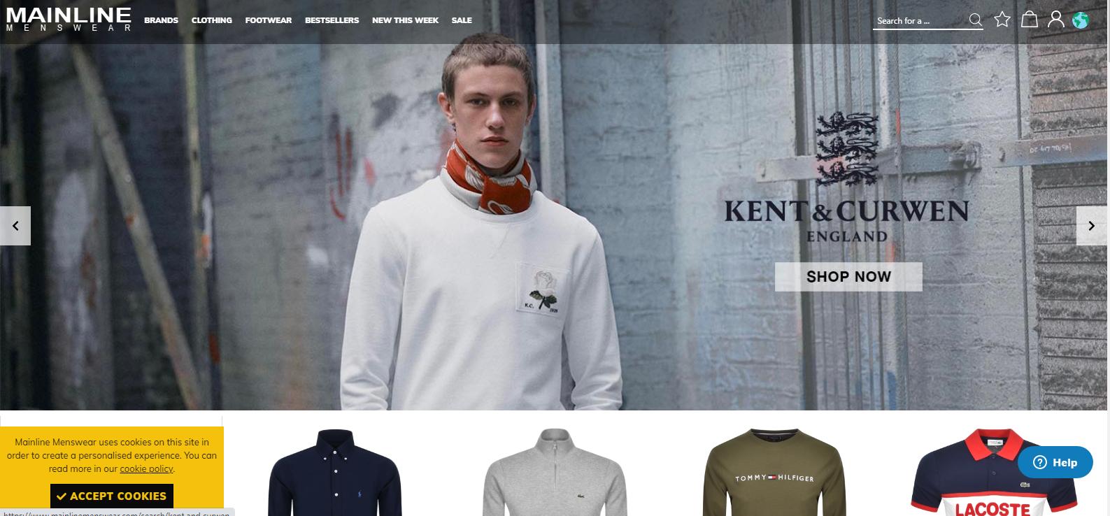 mainline menswear marketing automation example