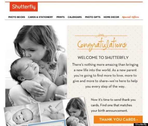 Shutterfly CRM - Email Marketing Fail