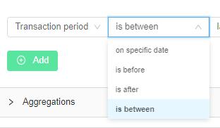 Transaction Status Over A Period Segment