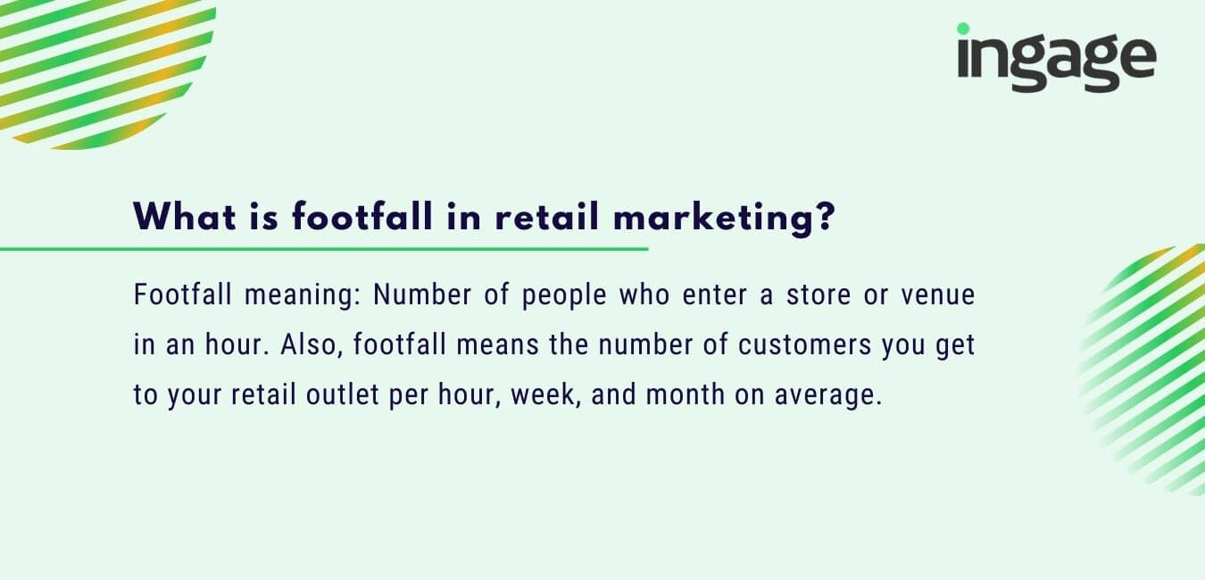 What is footfall in retail marketing