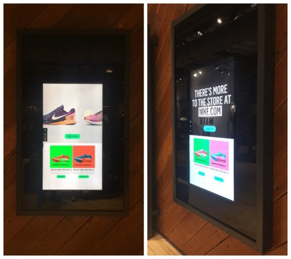 Nike's example of tying BOPIS with in-store online shopping