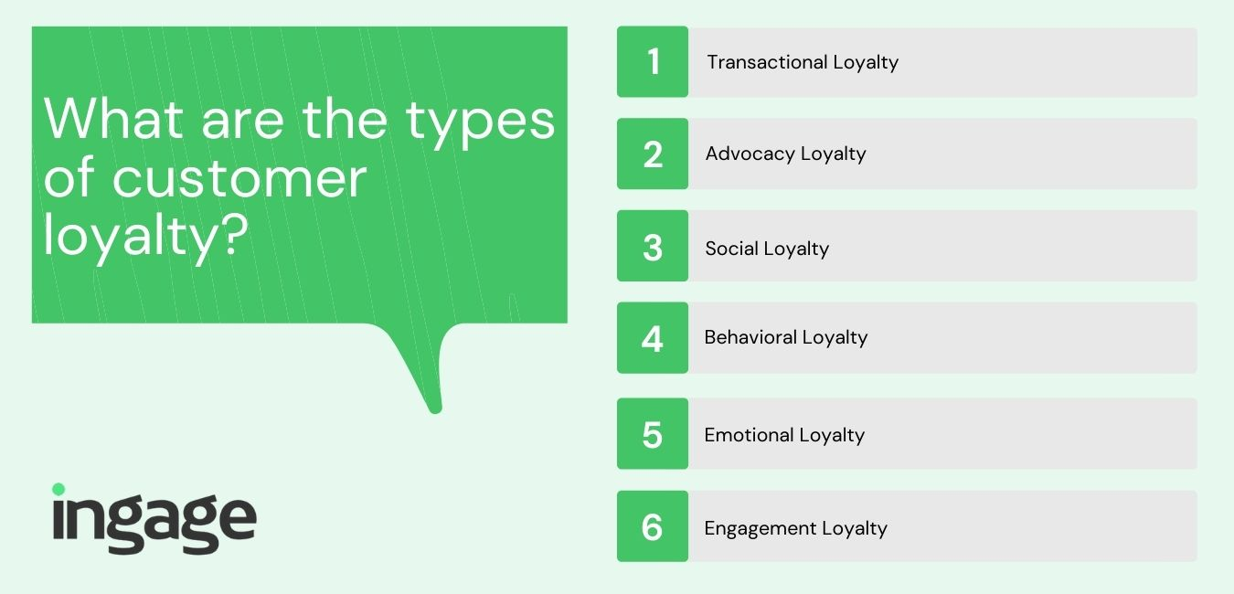 what are the types of customer loyalty