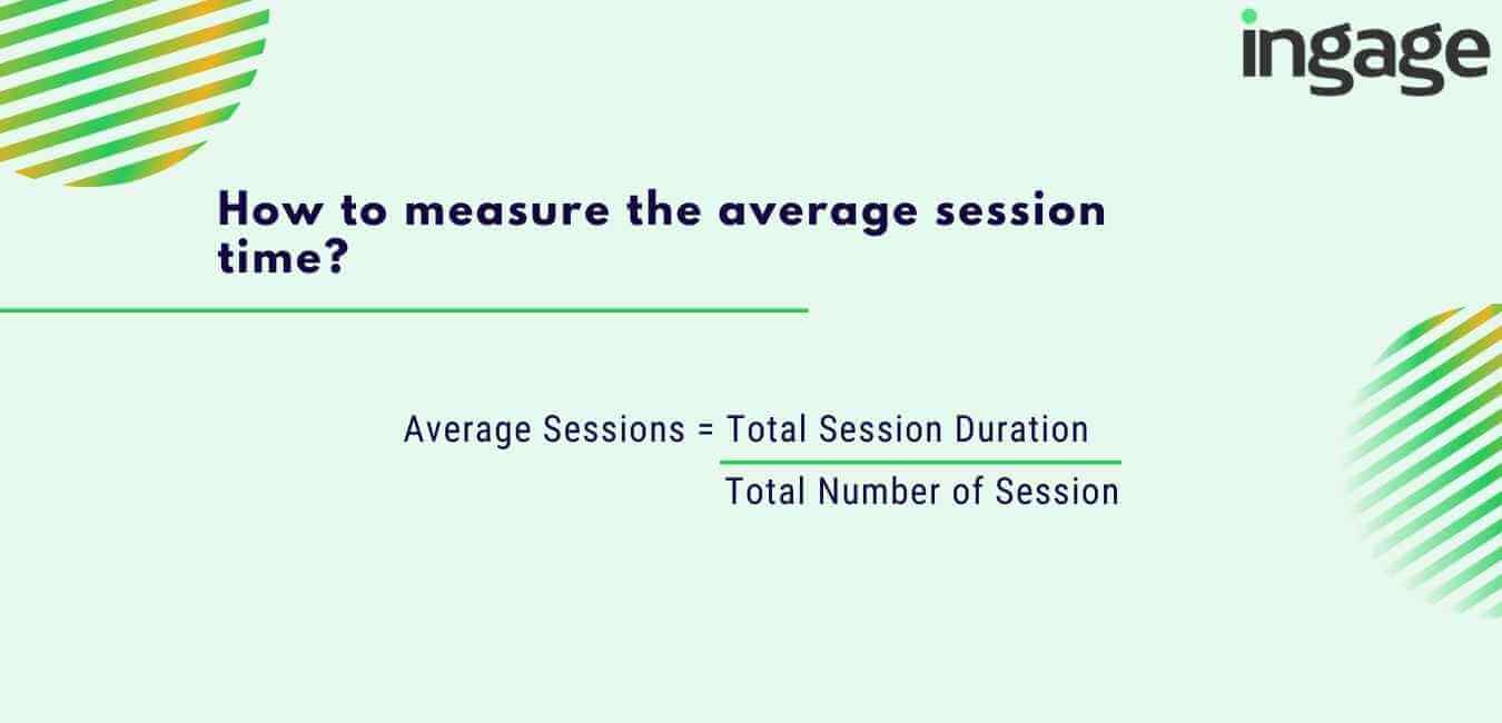 how to measure the average session time