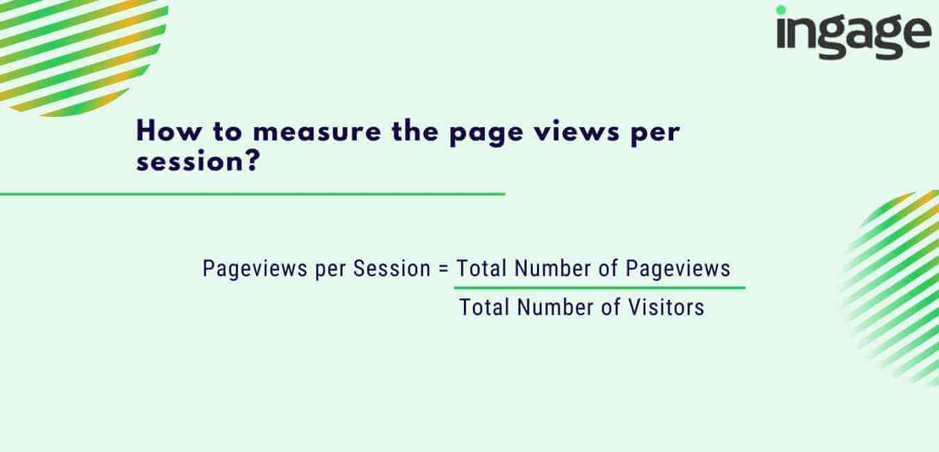 how to measure the page views per session