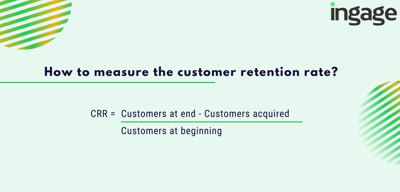 how to measure the customer retention rate