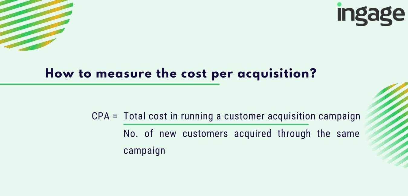 how to measure the cost per acquisition