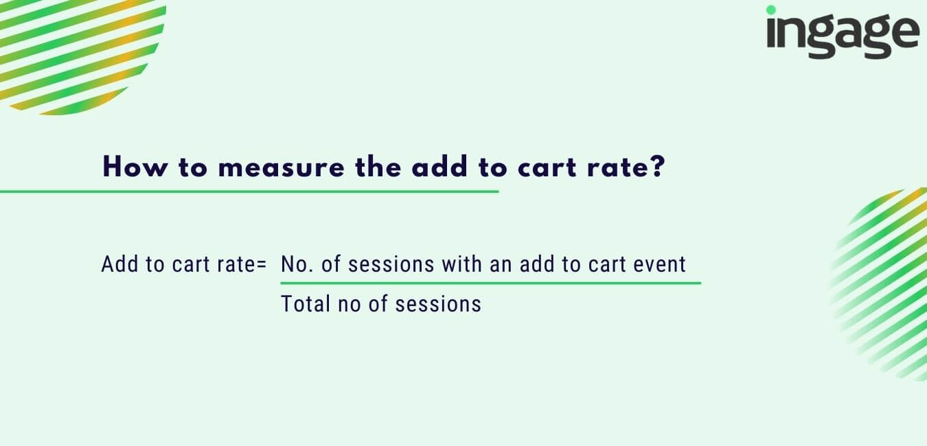 how to measure the add to cart rate