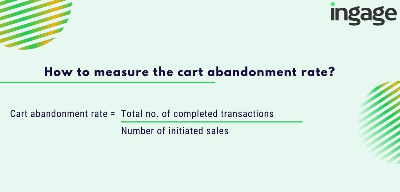 how to measure the cart abandonment rate