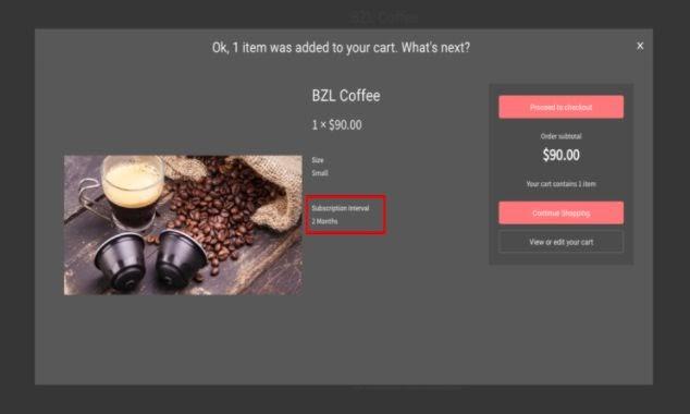ecommerce subscription upsell modal