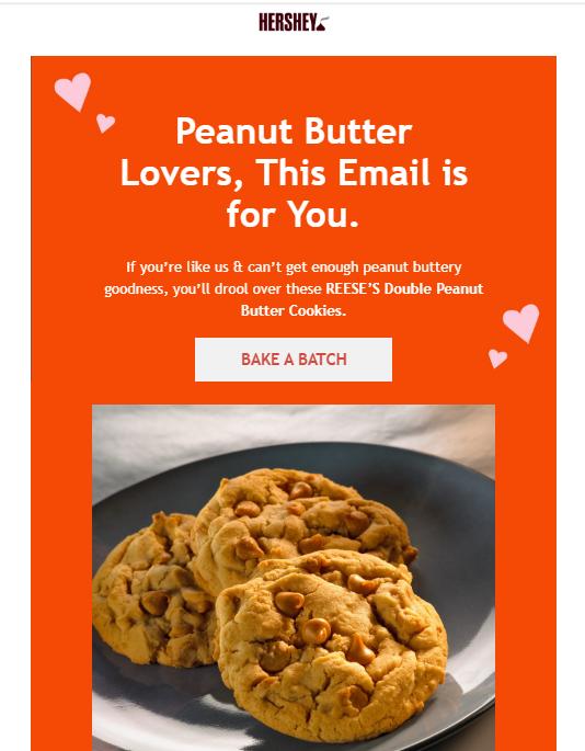 hersheys email marketing