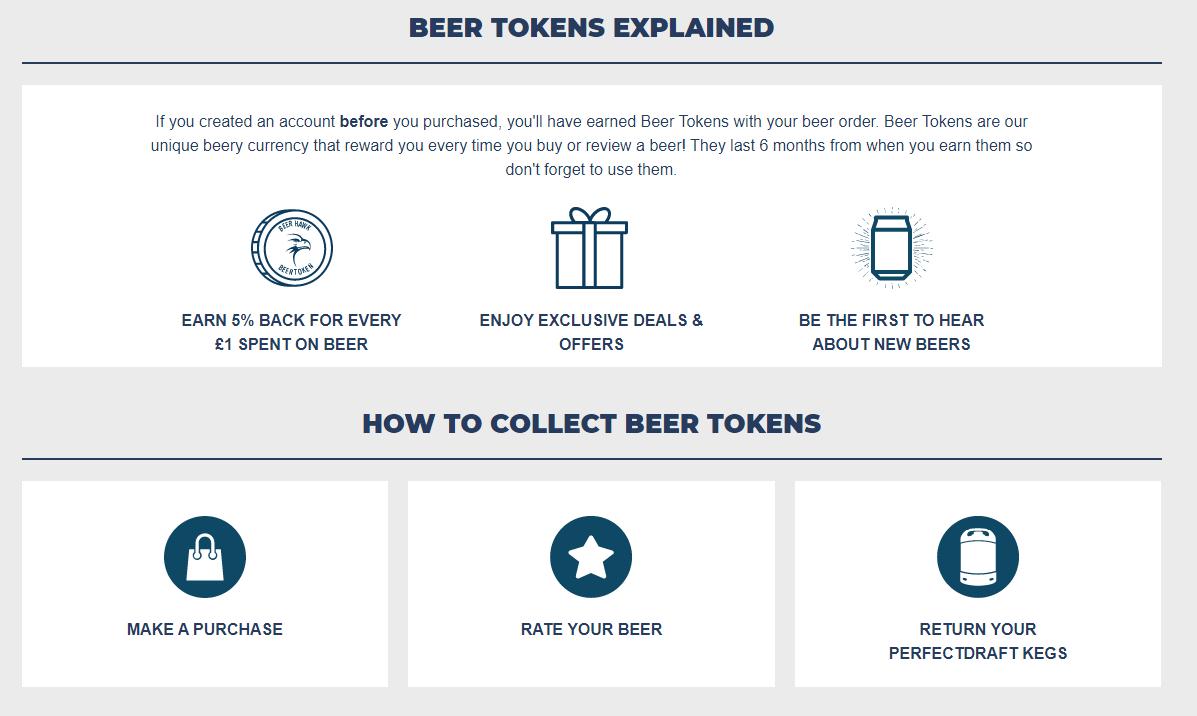 Beer Hawk - Food and beverages retailer - Point loyalty program example