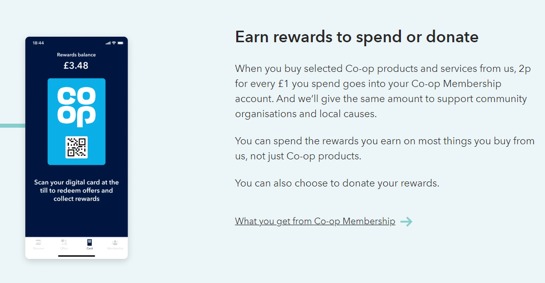 Co-Operative Food - Food retailer - Spend loyalty program example