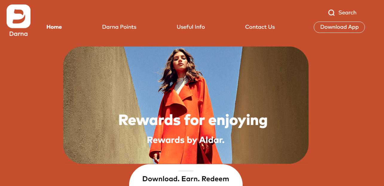 Aldar's Darna Rewards - hybrid loyalty program example