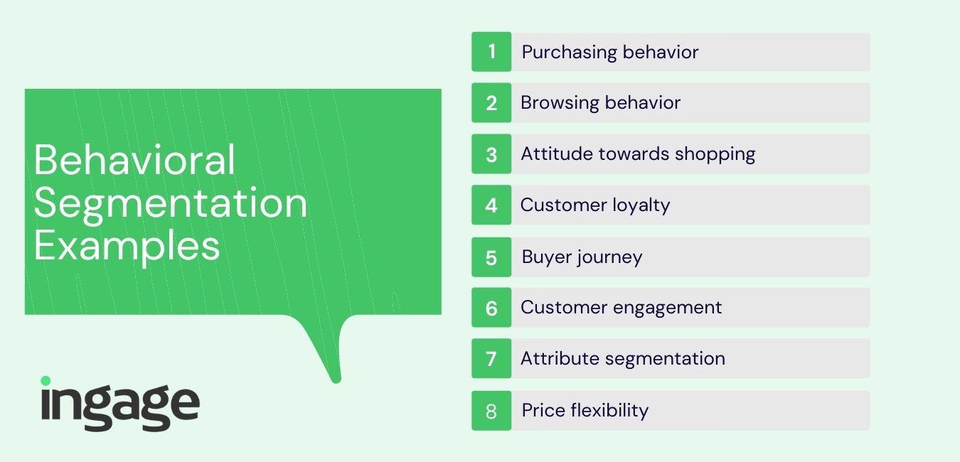 eight behavioral segmentation examples