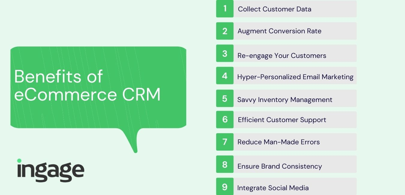 benefits of crm for ecommerce