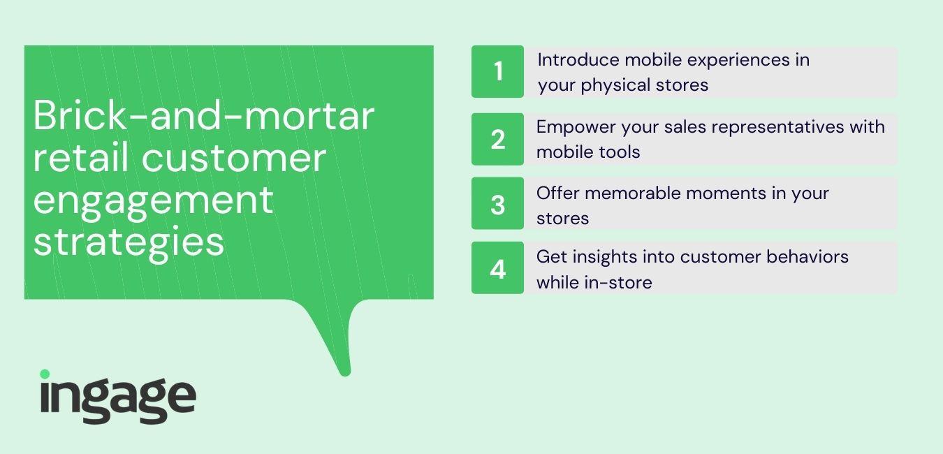 Brick-and-mortar retail customer engagement strategies