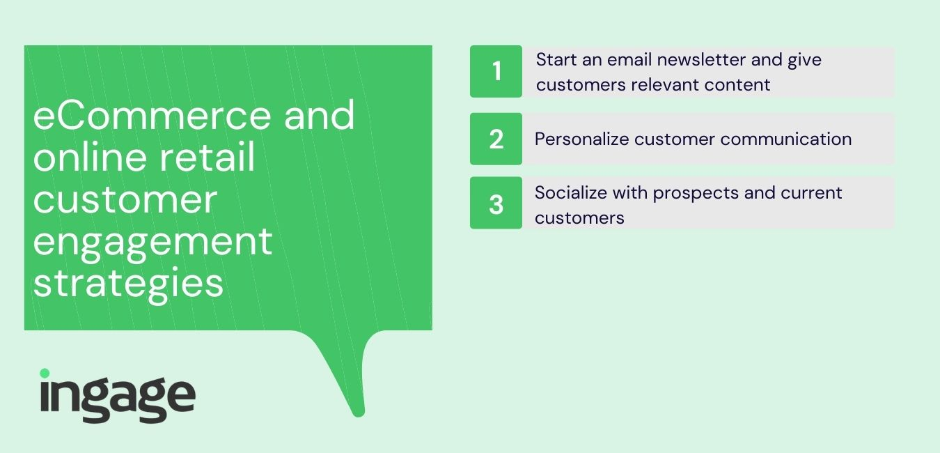 eCommerce and online retail customer engagement strategies