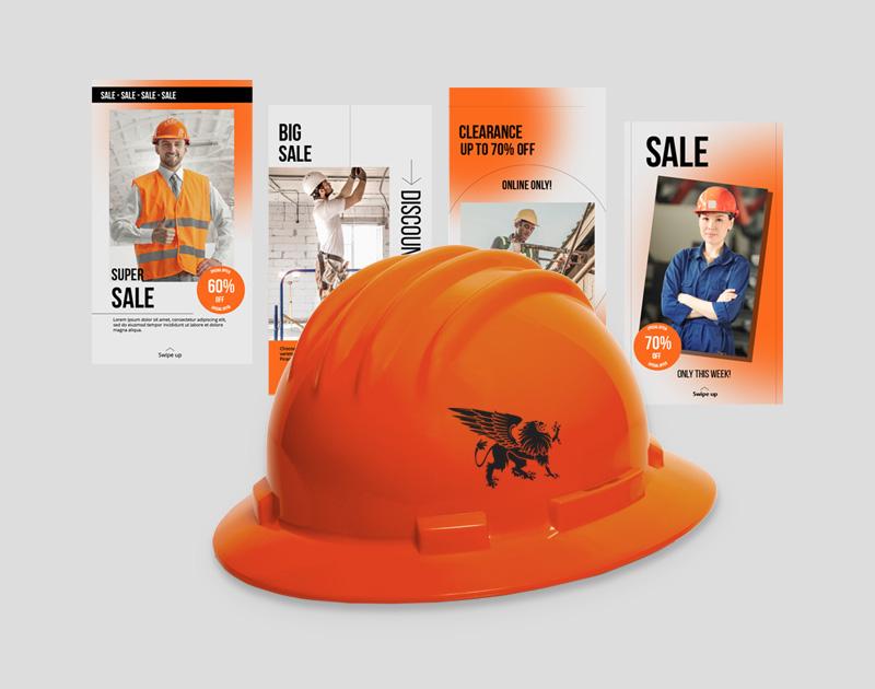 Kinetik Lab mockup for Gryphon Safety Performance Campaign