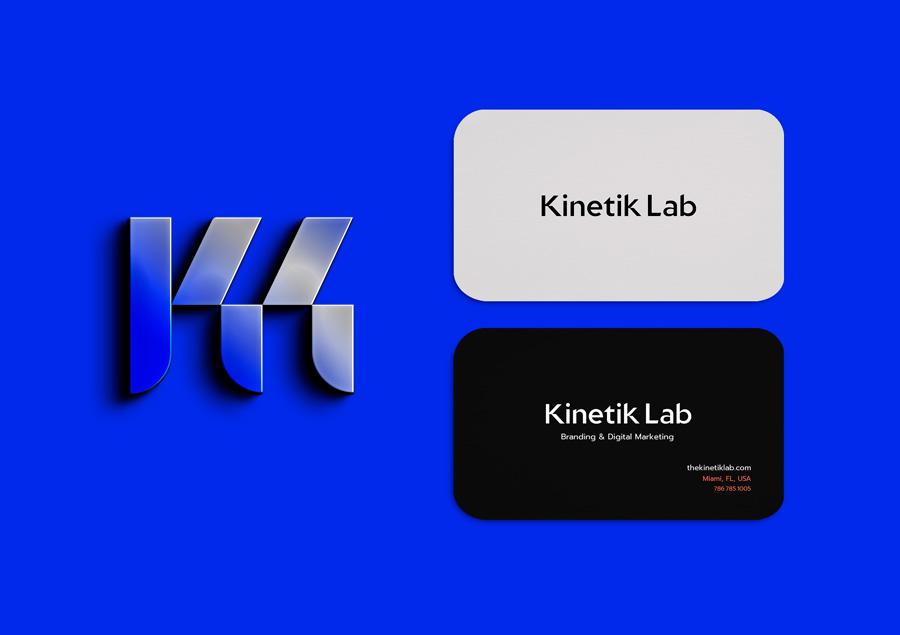 Kinetik Lab Miami branding mockup