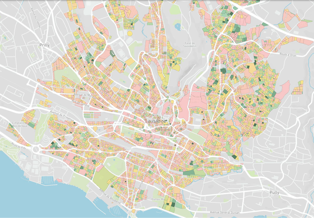 Map parcelles - outil digital prospection immobilière suisse