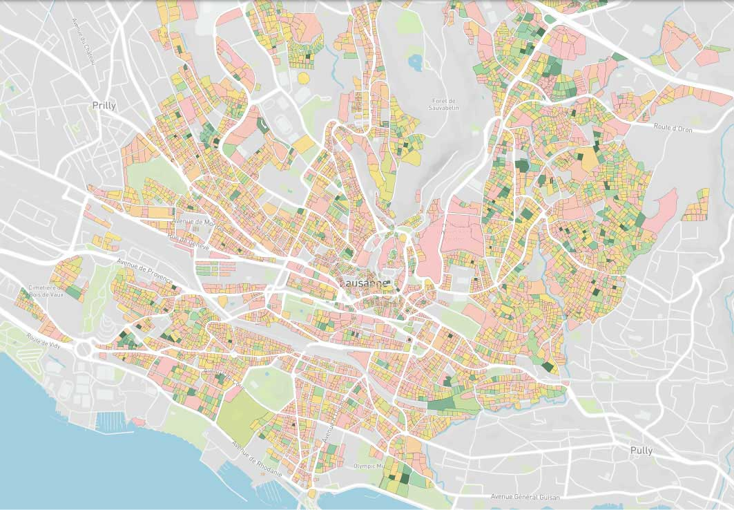 Map explore parcelles - outil digital prospection immobilière suisse