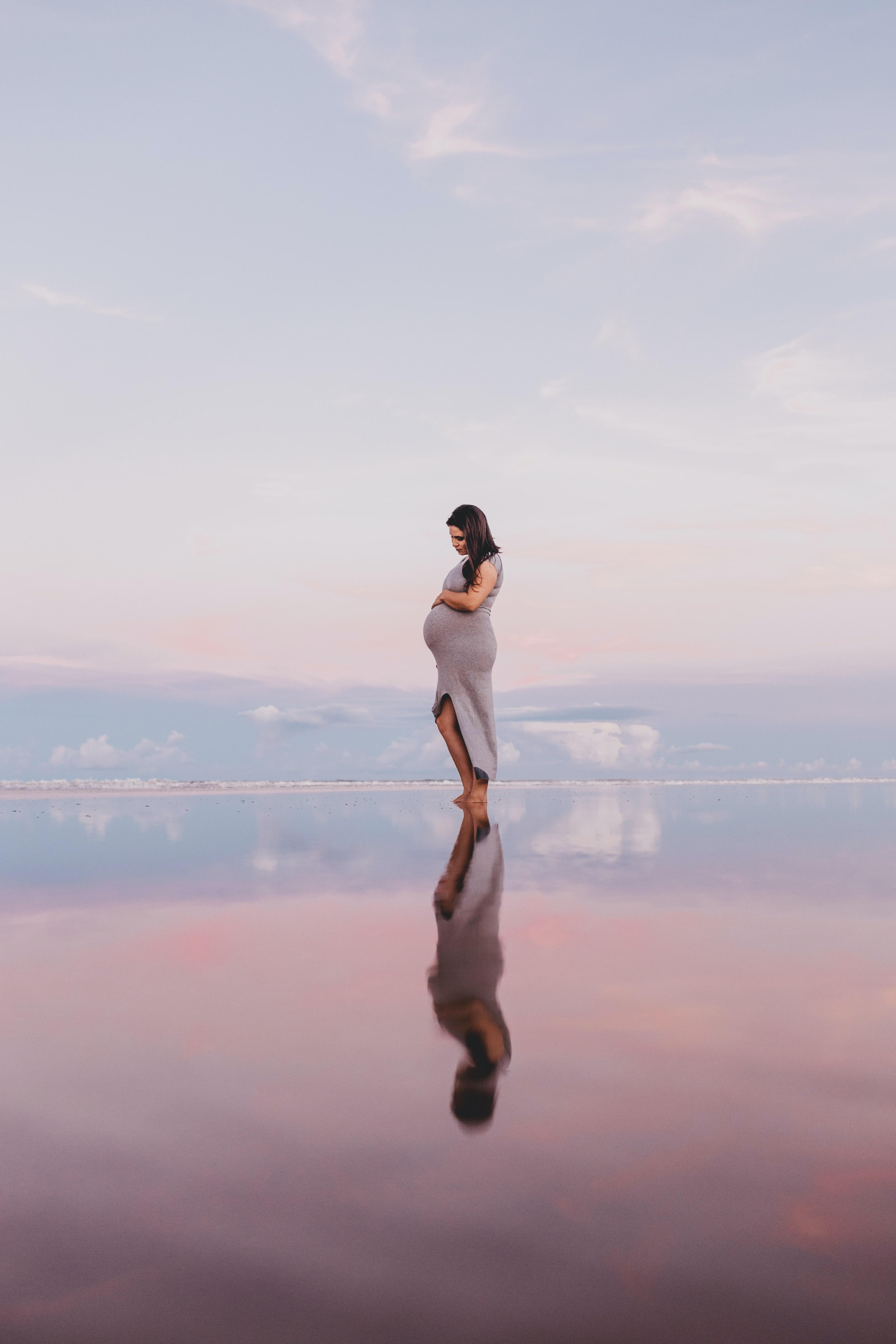Pregnant Woman at beach