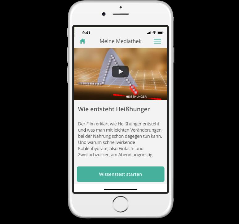 Mediathek der mebix Therapiebegleiter-App