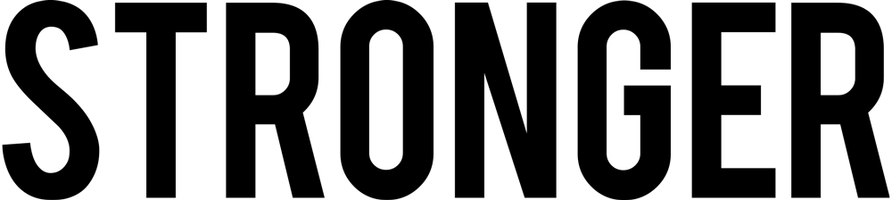 Logo that says Stronger