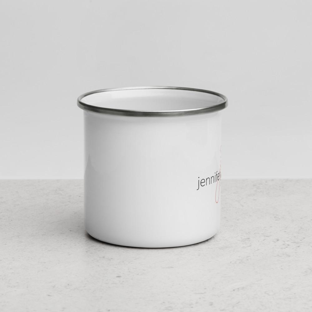 Enamel mug with logo