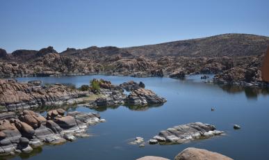 Lake view of Granite Dells
