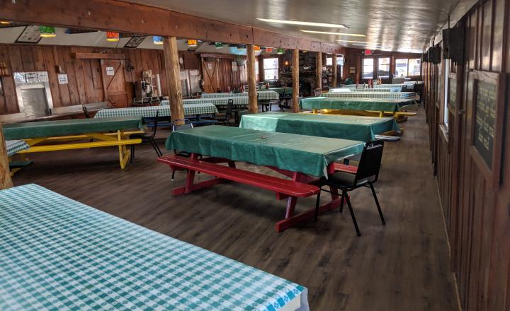 Empty dining area