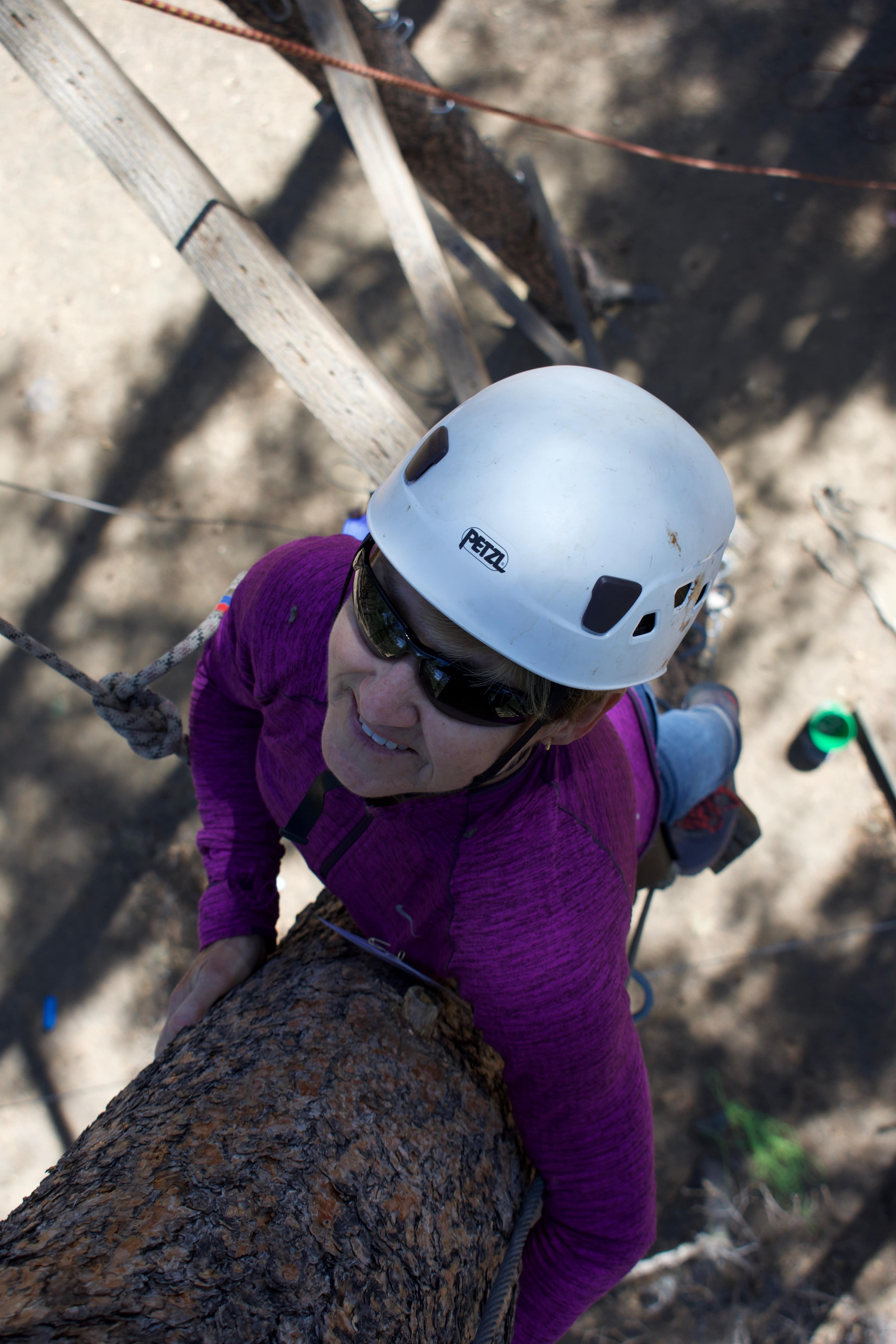 Person on the high ropes