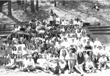 old picture of people sitting together