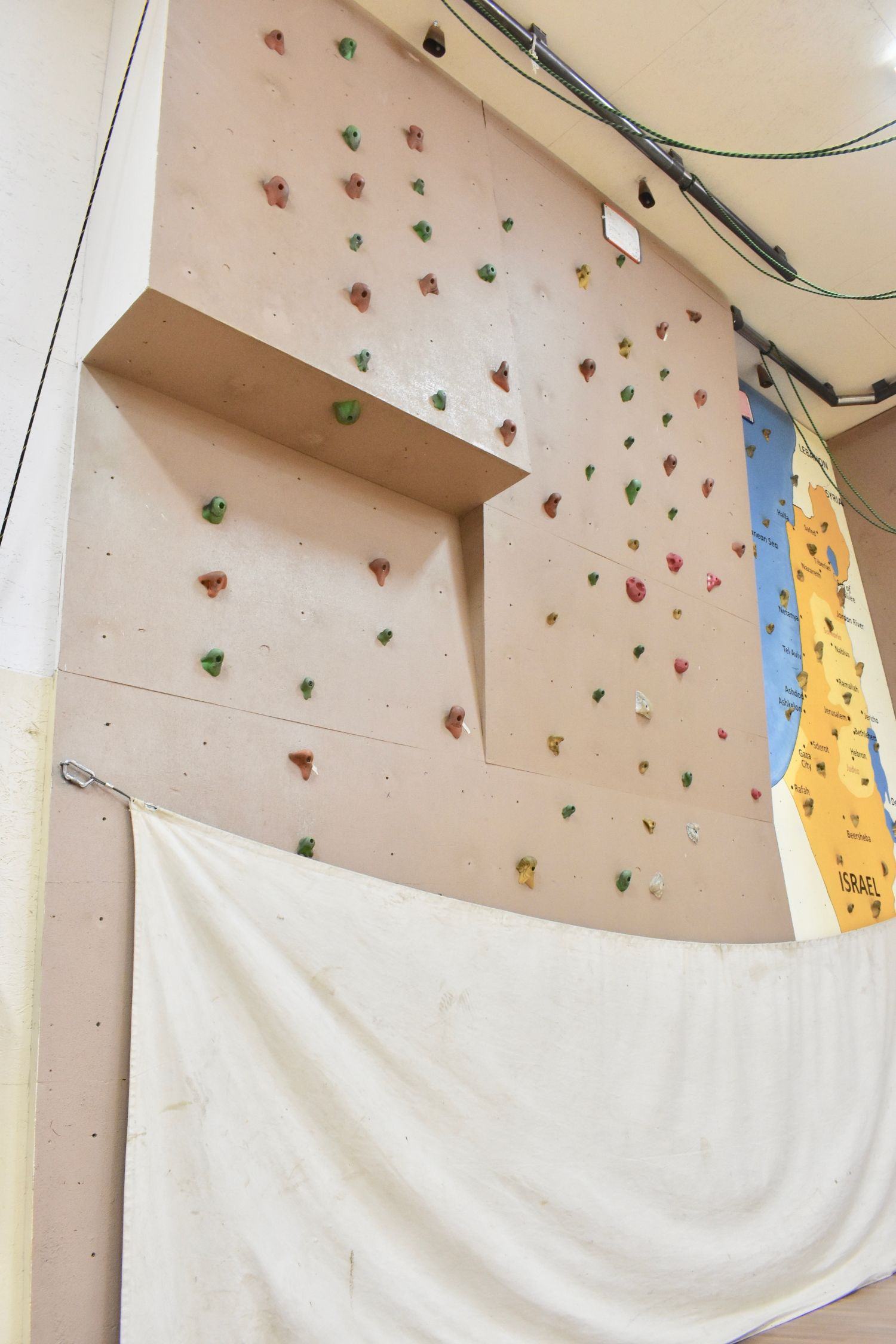 indoor Climbing wall at camp stein