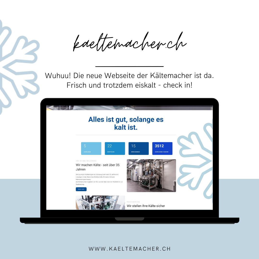 frisch, cool und eiskalt - die neue Homepage der Kältemacher.