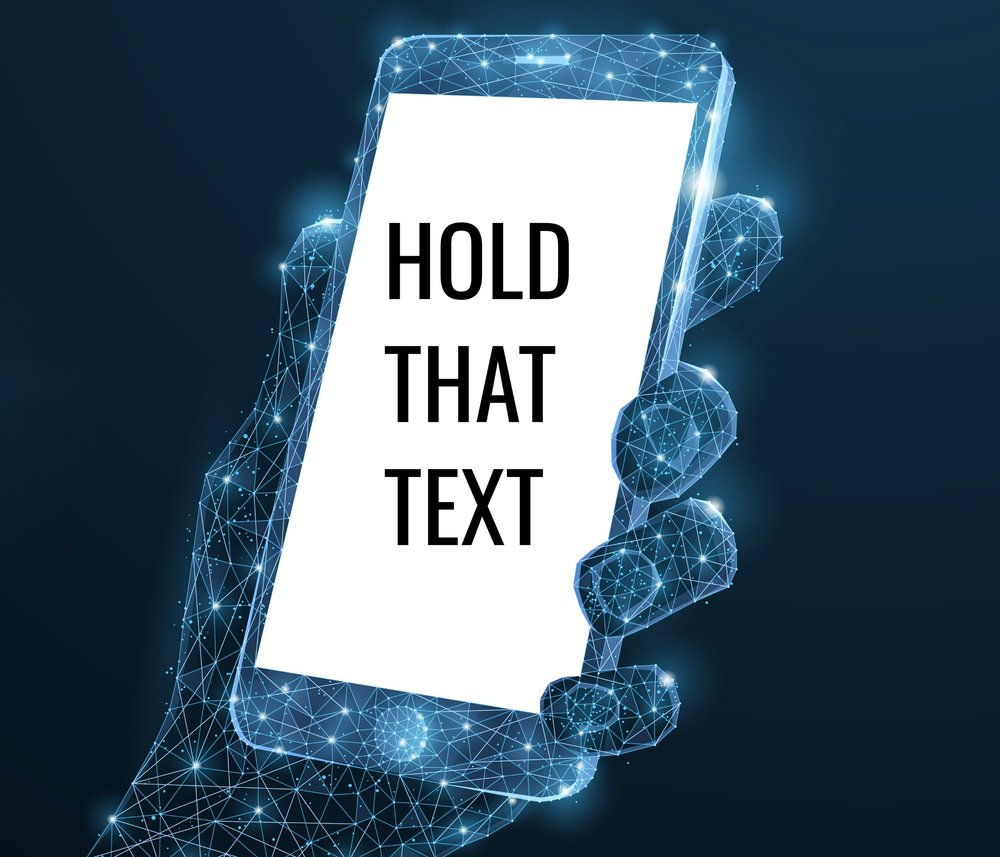 Hold that text logo