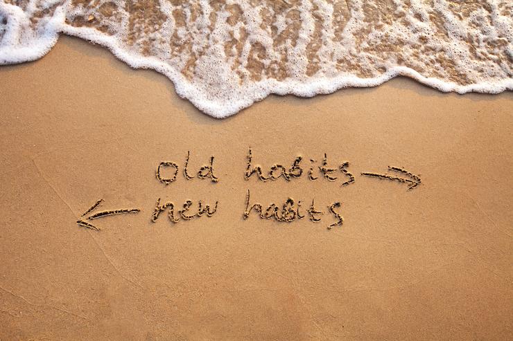 Habits written in the sand