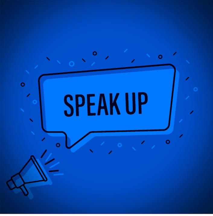 Speak up illustration