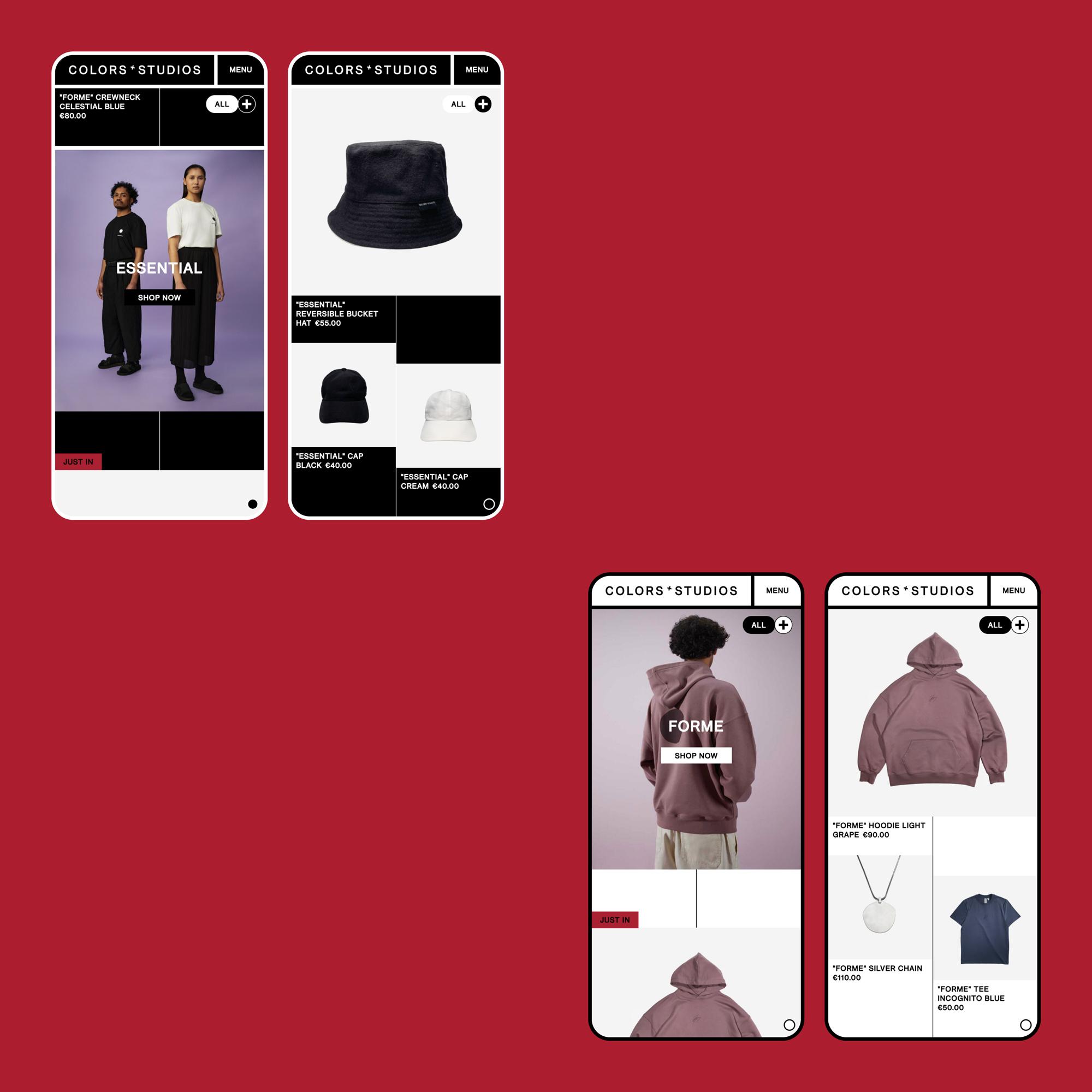 COLORS - Website Shop Mobile